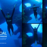 Philippines, Moalboal, Pescador Island, Cathedral, Freediver