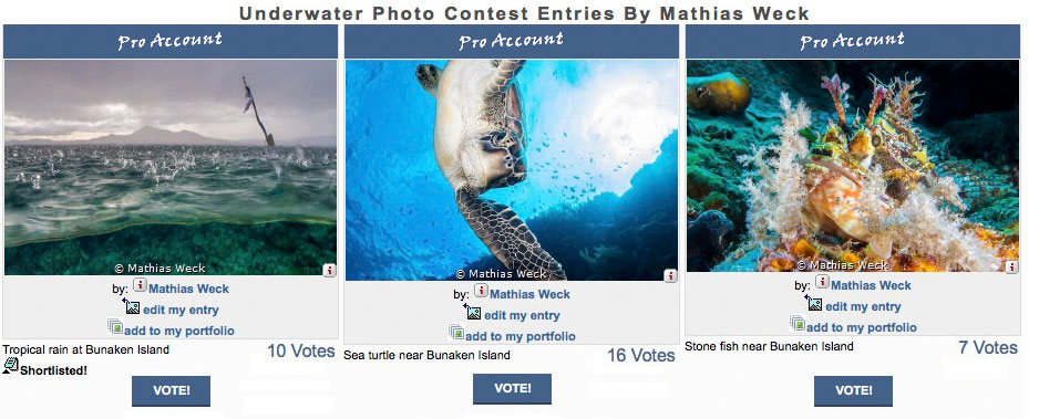 Underwater Photography Contest Entries By Mathias Weck