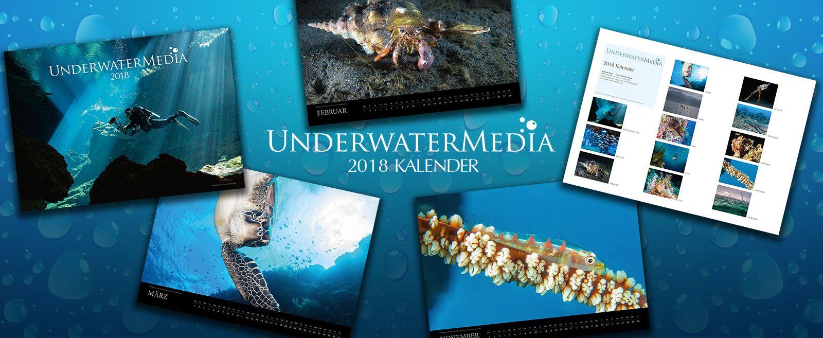 Underwater Media Calendar 2018